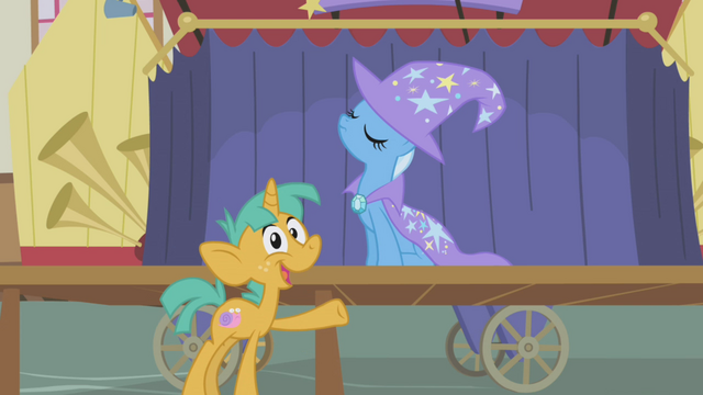 """File:Snails calls Trixie """"most awesome unicorn in Ponyville"""" S1E06.png"""