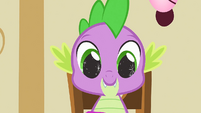 Spike's eyes sparkling S1E25