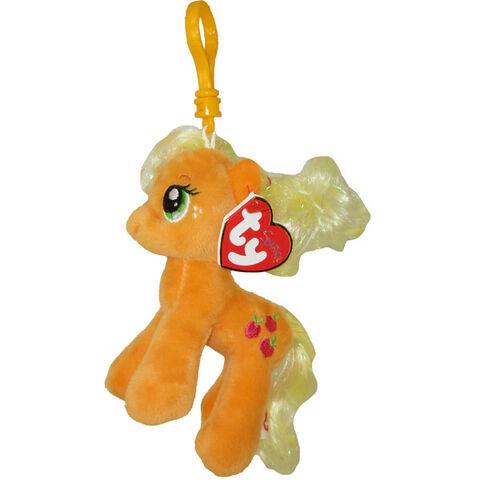 File:Applejack Ty Beanie Baby Tinsel keychain.jpg