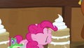 Pinkie Pie takes a bite of vanilla yak cake S7E11.png