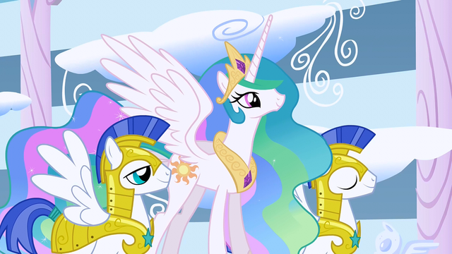 File:Princess Celestia and guards S1E16.png