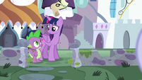 Twilight and Spike looking at each other S5E12