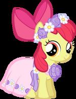 Castle Creator Apple Bloom in a dress