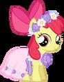 Castle Creator Apple Bloom in a dress.png