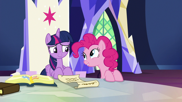 File:Pinkie Pie appears next to Twilight's throne S7E11.png