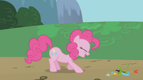 Pinkie Pie busting a gut S1E05