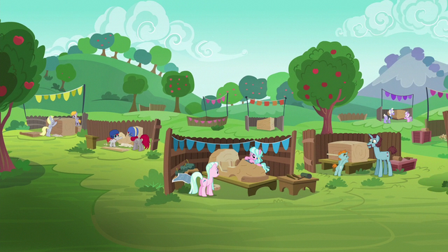 File:Pony pairs prepare for the Applewood Derby S6E14.png