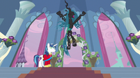 Queen Chrysalis happy S2E26