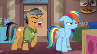 Quibble Pants mocking Rainbow Dash S6E13
