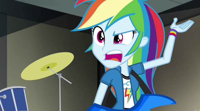 "File:Rainbow Dash ""I have to pick up the slack somehow"" EG2.png"