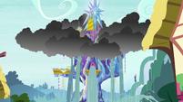 Rainwater floods the Castle of Friendship S6E21