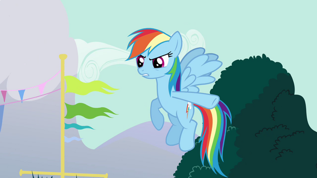 File:Rainbow Dash pointing her hooves S3E5.png