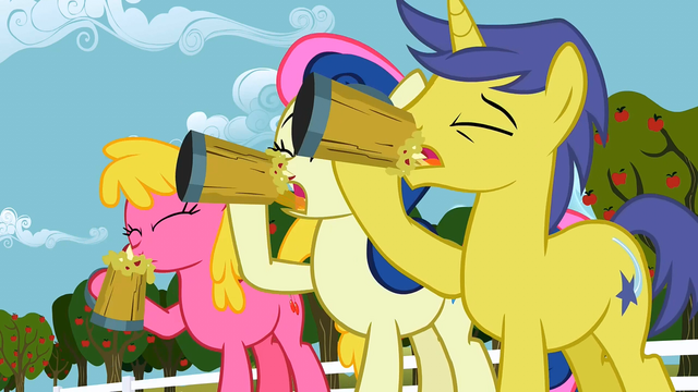 File:The ponies are drinking cider S1E15.png