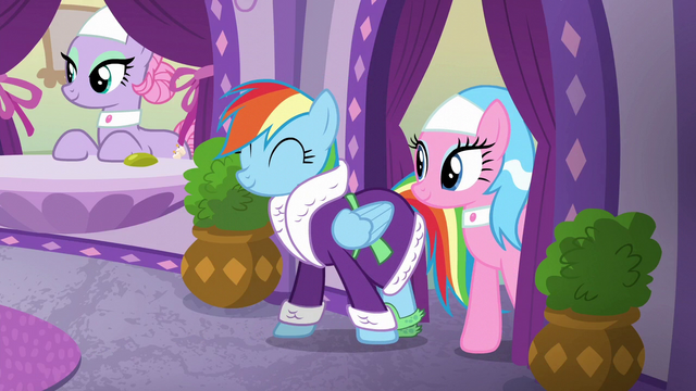 File:Rainbow Dash coming out of the back room S6E10.png