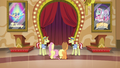 Applejack, Fluttershy, Flim, and Flam team up S6E20.png
