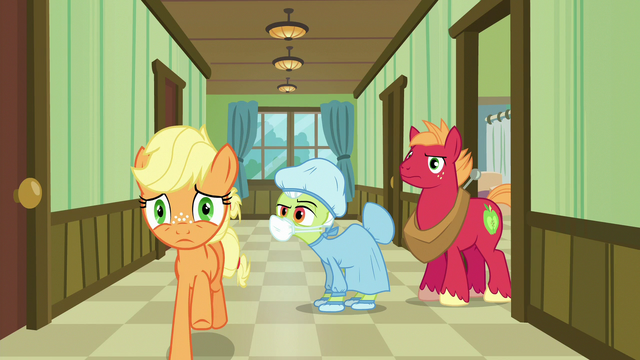 File:Applejack galloping to the hospital waiting room S6E23.png
