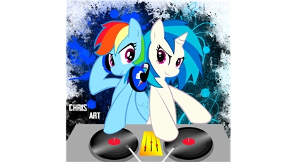 File:FANMADE DJ Pon-3 and Rainbow Dash.jpg