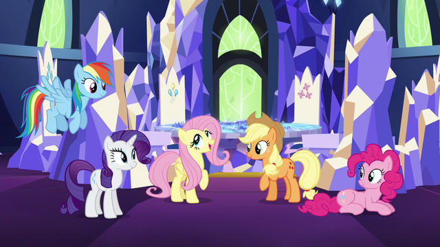File:Fluttershy talks about Twilight's love of books S5E3.png