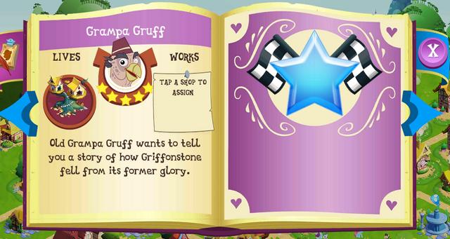 File:Grampa Gruff album page MLP mobile game.png