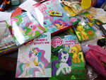 MLP coloring and activity books