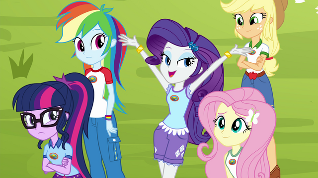 "File:Rarity ""modeled by my classmates"" EG4.png"