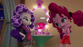 Rarity covered in silly string; Pinkie amused EGM4.png