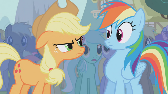 File:Applejack mad at Rainbow Dash S1E06.png