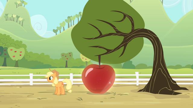 File:Applejack reveals a big apple S4E07.png