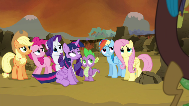 File:Main 6 and Spike hears Discord S4E26.png