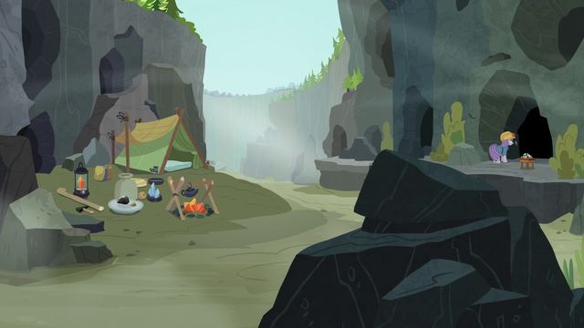 File:Maud Pie's campsite in the Ghastly Gorge S7E4.png