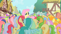 Ponies gathering around Fluttershy S01E20.png