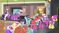 Rarity notices the line of ponies S4E08.png
