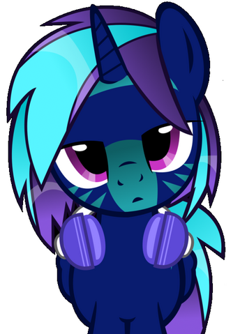 File:FANMADE Blue Shuffle Alicorn with headphones.png