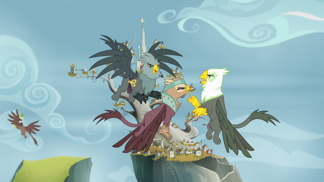 File:Griffons arguing in the Griffonstone sky S6E19.png