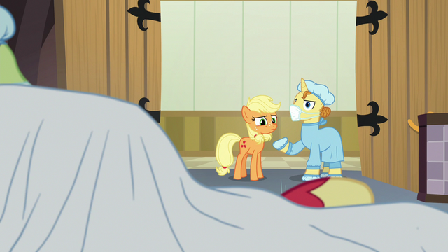 """File:Masked Pony 1 """"back on his hooves in no time"""" S6E23.png"""