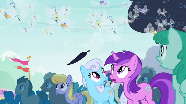 File:Ponies see floating leaf S4E16.png
