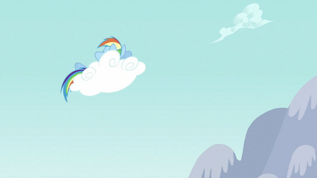 File:Rainbow Dash napping on a cloud S2E23.png