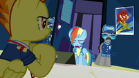 Rainbow head down eyes closed S3E7