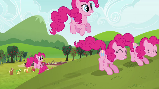 File:Pinkie Pie clones leaving the destruction S3E03.png