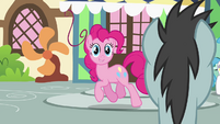 Pinkie Pie passing by Neon Lights S2E18