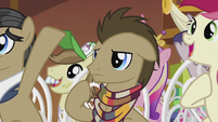 Dr. Hooves looking confused S5E9