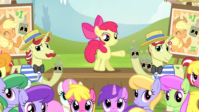 File:Ponies look at Applejack S4E20.png