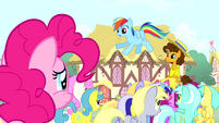 Rainbow 'no offense, Pinkie' S4E12