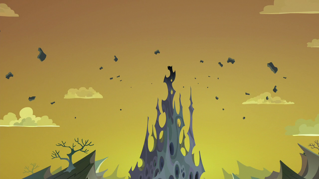 File:Top spire of the changeling hive destroyed S6E26.png