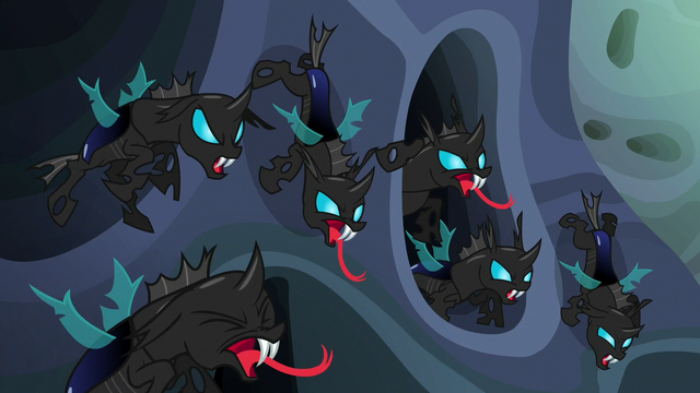 File:Changelings hiss angrily at Thorax S6E26.png