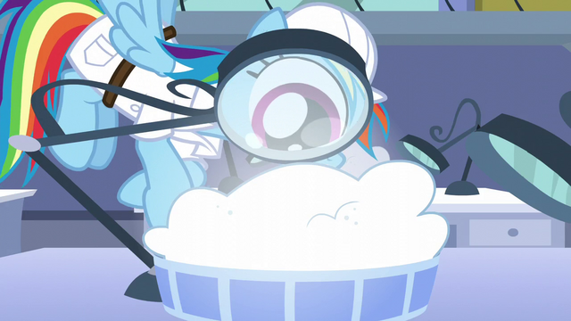 File:Rainbow looks into a magnifying glass S5E5.png