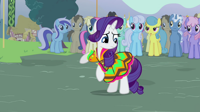 File:Rarity looking at her dress S3E5.png