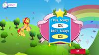 Sunset Shimmer Flying game Win MLPMobileApp