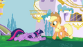 Applejack approaching Twilight to help S4E01.png