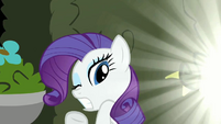 Rarity shielding eyes S2E1